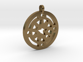 Star Pendant in Polished Bronze