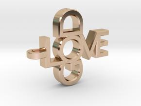 Love God Pendant in 14k Rose Gold Plated Brass