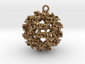 West Nile virus pendant in Natural Brass