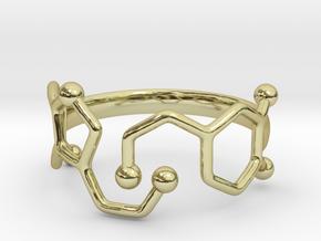 Dopamine Serotonin Ring - Size 7 in 18k Gold