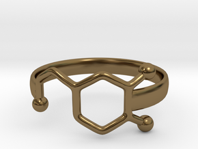 Dopamine Ring Size 6  in Polished Bronze