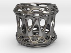 Candle Holder 3cm (001) in Polished Nickel Steel