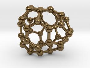 0130 Fullerene C40-24 cs in Polished Bronze