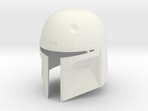 Boba Fett Helmet - Dented version in White Natural Versatile Plastic