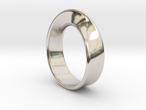 Moebius Ring - reference in Rhodium Plated Brass