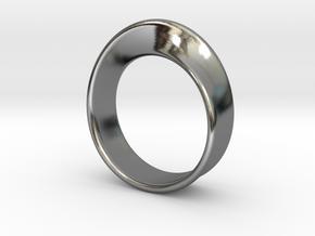Moebius Ring 19.0 in Premium Silver