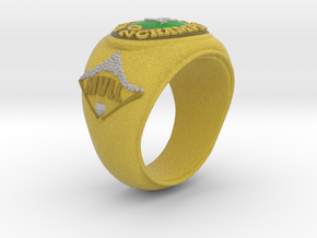 A's Tee Ball Ring Size 4.5 in Full Color Sandstone