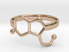 Serotonin Molecule Ring - Size 7 in 14k Rose Gold