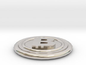 Bitcoin in Rhodium Plated Brass