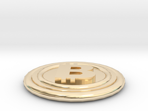 Bitcoin in 14k Gold Plated Brass
