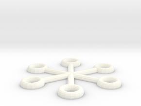 Imperial Snowflake Mk 1 in White Processed Versatile Plastic