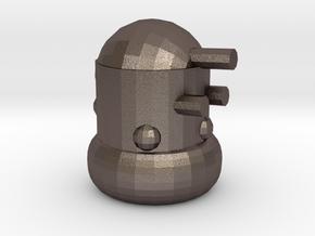 Dalek Second life larger in Polished Bronzed Silver Steel