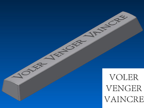 """Voler Venger Vaincre"" Spacebar Keycap (6.25x) in White Strong & Flexible"