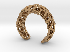 Fibrous Ring - size 7 in Polished Brass