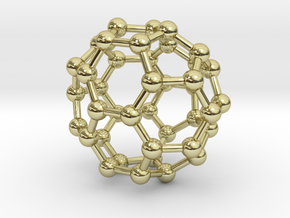 0149 Fullerene C40-37 c2v in 18k Gold Plated Brass
