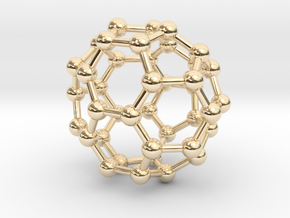 0149 Fullerene C40-37 c2v in 14K Yellow Gold