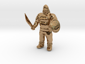Ogre Warrior in Polished Brass