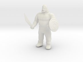 Ogre Warrior in White Natural Versatile Plastic