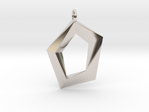 House of Love in Rhodium Plated Brass