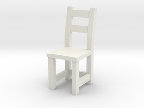1:48 IVAR Chair (not full size) in White Natural Versatile Plastic