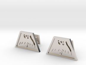 Order of the Trapezoid Cufflinks in Rhodium Plated Brass