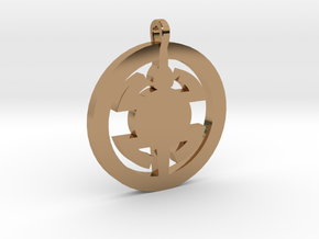 Turtle Pendant in Polished Brass
