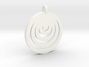 Moon Circles Pendant in White Processed Versatile Plastic