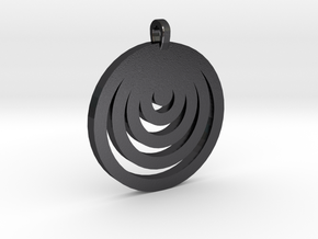 Moon Circles Pendant in Polished and Bronzed Black Steel