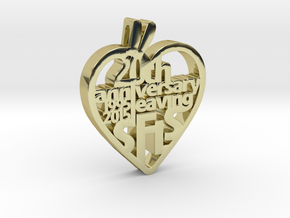 Leaving SFLS 20 Years Class Pendant in 18k Gold Plated