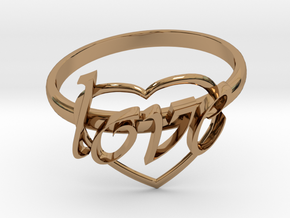 Ring Of Love in Polished Brass