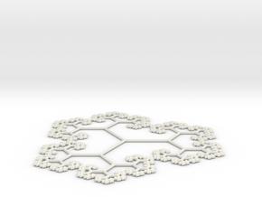 60º Golden Tree in White Natural Versatile Plastic