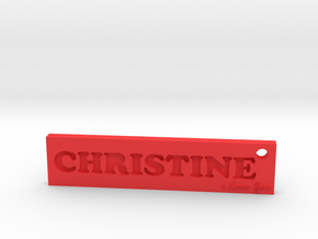 CHRISTINE (Key chain)(Pendant) - Love in Red Processed Versatile Plastic