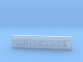 CHRISTINE (Key chain)(Pendant) - Love in Smooth Fine Detail Plastic