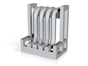 N Pipe Rack Riser 10mm 2pc in White Strong & Flexible Polished