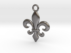 Fleur de lis Pendant in Polished Nickel Steel