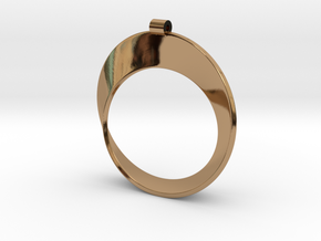 Moebius Strip in Polished Brass