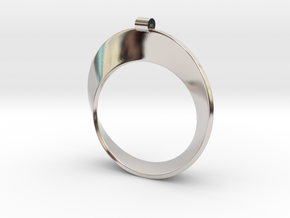 Moebius Strip in Rhodium Plated Brass