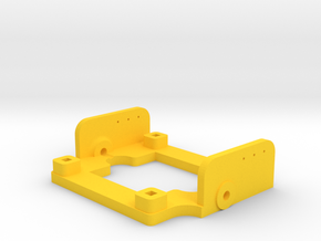 Tilt Frame for runcam camera (28x28mm formfactor) in Yellow Processed Versatile Plastic