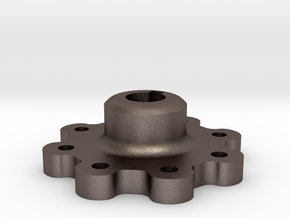 Ultra High Strength Wheel Hub (17mm shaft) in Polished Bronzed Silver Steel