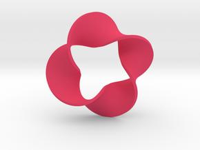 0159 Mobius strip (p=4, d=5cm) #007 in Pink Processed Versatile Plastic