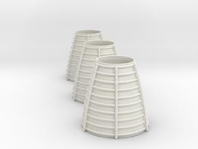3d Shuttler Engine Cone Arc X 3 in White Natural Versatile Plastic