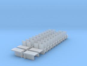Bpmz Sitze Einzeln 2+2+Tische in Smooth Fine Detail Plastic