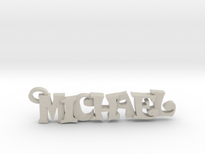 Michael Keychain (Pendant) in Natural Sandstone