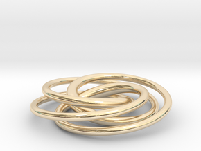 Speed Curve 4-3 Pendant in 14k Gold Plated