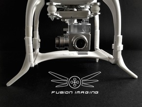 DJI Phantom Compass Leg Extender (V3.1) 'Wide' in White Natural Versatile Plastic