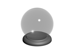 4X Round Stands for Large Ø Marble in Polished Metallic Plastic