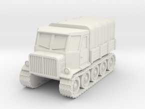 Fictional Christie-Type Tractor in White Strong & Flexible