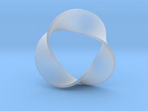0158 Mobius strip (p=3, d=10cm) #006 in Smooth Fine Detail Plastic