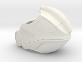 Aidan's Helmet_ Part 1 of 3 in White Natural Versatile Plastic