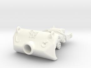 1-16 M10 Gun Shield + Block in White Processed Versatile Plastic